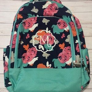 Monogrammed back pack with matching lunch box!